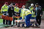 St Johnstone v Kilmarnock....06.11.10  .Derek McInnes goes over to see Marcus Haber as he is stretchered off.Picture by Graeme Hart..Copyright Perthshire Picture Agency.Tel: 01738 623350  Mobile: 07990 594431