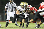 Lawndale, CA 10/01/10 - Haden Gregory (Peninsula #42) in action during the Peninsula-Lawndale Varsity football game.