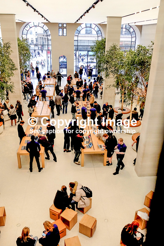 Interior, Apple Store, Regent Street, London, UK, March, 2017, 201703173350<br />