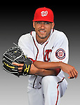 25 February 2011: Washington Nationals' infielder Ian Desmond poses for his Photo Day portrait at Space Coast Stadium in Viera, Florida. Mandatory Credit: Ed Wolfstein Photo