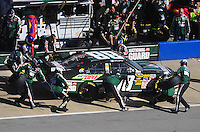 Nov. 1, 2009; Talladega, AL, USA; NASCAR Sprint Cup Series driver Dale Earnhardt Jr pits during the Amp Energy 500 at the Talladega Superspeedway. Mandatory Credit: Mark J. Rebilas-