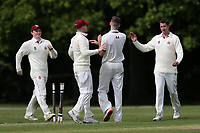 H Chowdhury of Wanstead is bowled out by N Winter during Brentwood CC vs Wanstead and Snaresbrook CC (batting), Shepherd Neame Essex League Cricket at The Old County Ground on 11th May 2019
