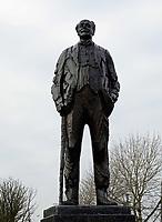 Nederland Lelystad-  Januari 2018.  Ir Conelis Lely. Standbeeld gemaakt door Piet Esser.    Foto Berlinda van Dam / Hollandse Hoogte