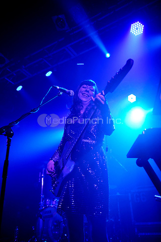 LONDON, ENGLAND - NOVEMBER 9: Nikki Monninger of 'Silversun Pickups' performing at Electric Ballroom on November 9, 2016 in London, England.<br /> CAP/MAR<br /> &copy;MAR/Capital Pictures /MediaPunch ***NORTH AND SOUTH AMERICAS ONLY***