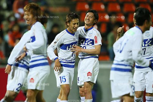 (L to R) .Akito Kawamoto (Ventforet), .Koki Mizuno (Ventforet), .APRIL 10, 2013 - Football /Soccer : .2013 J.LEAGUE Yamazaki Nabisco Cup .between Omiya Ardija 1-3 Ventforet Kofu .at NACK5 Stadium Omiya, Saitama, Japan. .(Photo by YUTAKA/AFLO SPORT)