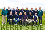 The Ballyheigue Golf club taking part in the Billy O&rsquo;Sullivan Final in the Ballybunion GC on Saturday.<br /> Seated l-r, Bernard Dineen, Ger Lynch, John Donegan (Causeway), Dan O&rsquo;Connor, James O&rsquo;Sullivan and Eamonn Stack.<br /> Back l-r, John Fox, Brendan Harty (Causeway), Billy Griffin, Brendan McMahon, John Donegan (Ardfert), Colm Carroll, Tadie Coughlan, John Dineen and Pat Mulvihill.