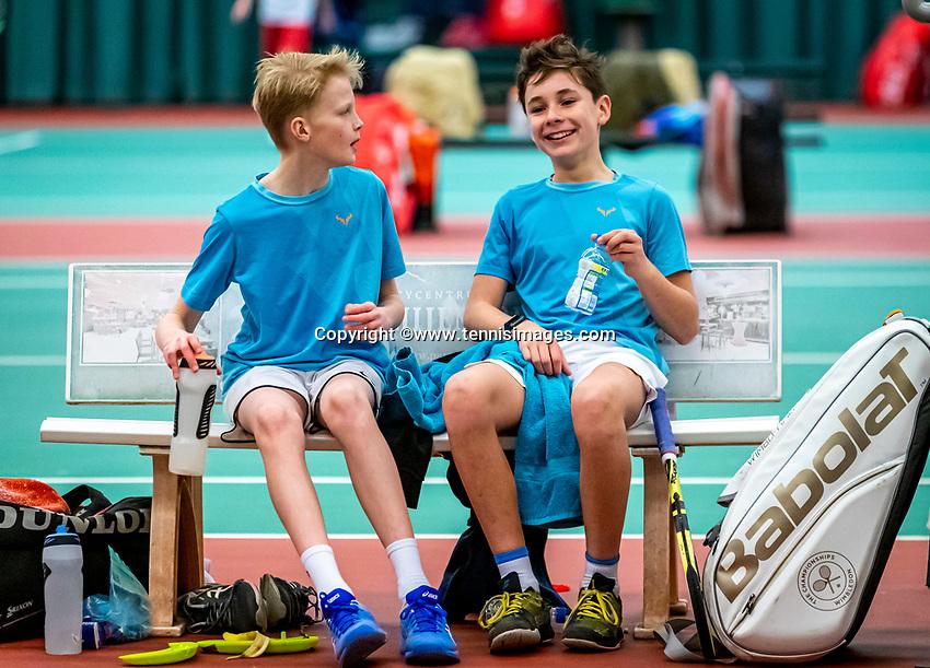 Wateringen, The Netherlands, December 15,  2019, De Rhijenhof , NOJK juniors doubles 12/14/16  years, Mees Röttgering (NED) and Hidde Schoenmakers (NED) (L)<br /> Photo: www.tennisimages.com/Henk Koster