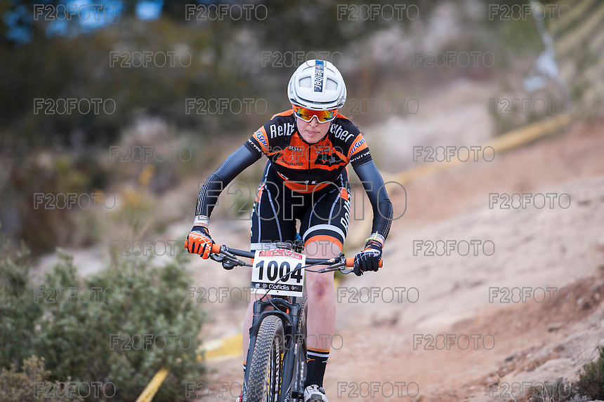 Chelva, SPAIN - MARCH 6: Sara Gay during Spanish Open BTT XCO on March 6, 2016 in Chelva, Spain