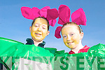 COLOUR: Ciarda Barton and Niamh Ladden looking colourful at the St Patrick's Day Parade in Milltown.