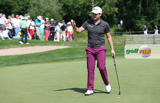 7th birdie on the 11th for Tyrrell Hatton (ENG) during Round Two of the 2015 BMW International Open at Golfclub Munchen Eichenried, Eichenried, Munich, Germany. 26/06/2015. Picture David Lloyd | www.golffile.ie