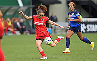 Portland, OR - Saturday July 09, 2016: Meleana Shim during a regular season National Women's Soccer League (NWSL) match between the Portland Thorns FC and FC Kansas City at Providence Park.