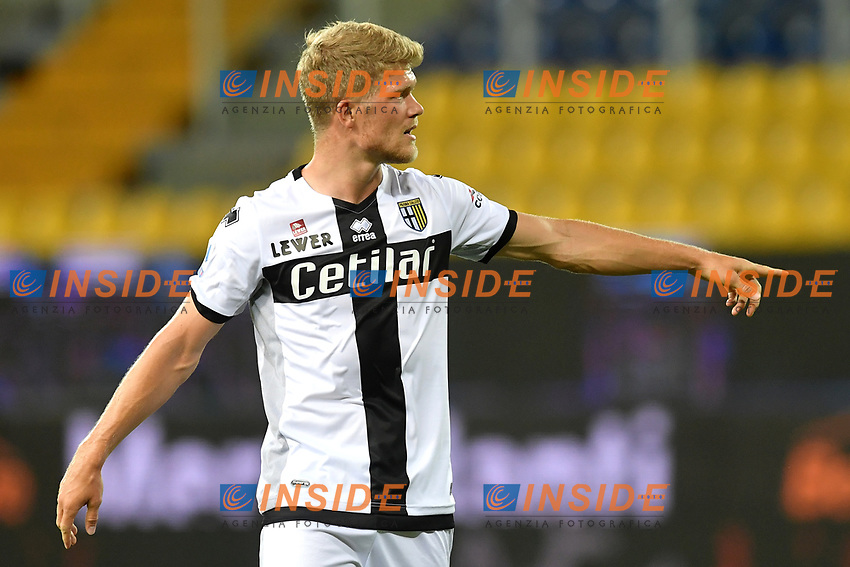 Andreas Cornelius of Parma reacts during the Serie A football match between Parma and FC Internazionale at stadio Ennio Tardini in Parma ( Italy ), June 28th, 2020. Play resumes behind closed doors following the outbreak of the coronavirus disease. <br /> Photo Andrea Staccioli / Insidefoto