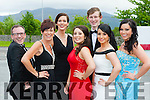 Killarney Musical Society members at the All Ireland Musical society awards in the INEC on Saturday night l-r: Nick Power, Orlaith Monks, Eilise O'Donoghue, Roza Karim, Ronan O'Shea, Jessica Murphy and Sheree Murphy.