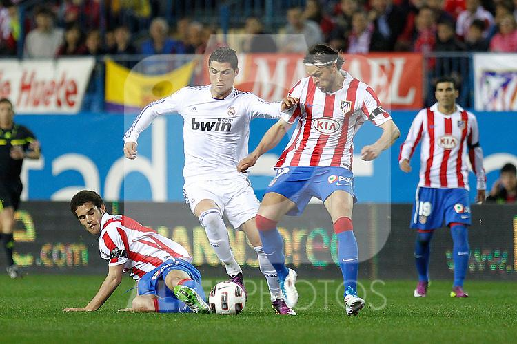 Atletico de Madrid's and Real Mdrid's during la Liga match on 19 march 2011...Photo: Cebolla Cid-Fuentes / ALFAQUI