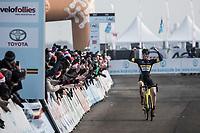 Thijs Aerts (BEL/Telenet Fidea Lions) is the U23 Belgian Champion<br /> <br /> U23 race<br /> Belgian National Cyclocross Championships 2018 / Koksijde