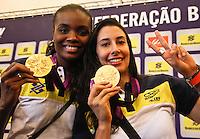 Fabiana(e) e Sheila Jogadoras da seleção brasileira feminina de vôlei, durante entrevista coletiva nesta SEGUNDA-FEIRA (13)  no Hotel Marriot Guarulhos.FOTO ALE VIANNA/BRAZIL PHOTO PRESS