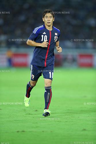 Shinji Kagawa (JPN),<br /> SEPTEMBER 10, 2013 - Football / Soccer :<br /> Kirin Challenge Cup 2013 match between Japan 3-1 Ghana at Nissan Stadium in Kanagawa, Japan. (Photo by Kenzaburo Matsuoka/AFLO)