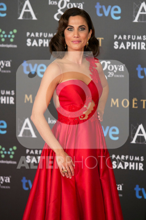 Toni Acosta attend the 2015 Goya Awards at Auditorium Hotel, Madrid,  Spain. February 07, 2015.(ALTERPHOTOS/)Carlos Dafonte)