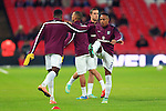 Nathaniel Clyne of England warms up before his debut - England vs. Slovenia - UEFA Euro 2016 Qualifying - Wembley Stadium - London - 15/11/2014 Pic Philip Oldham/Sportimage