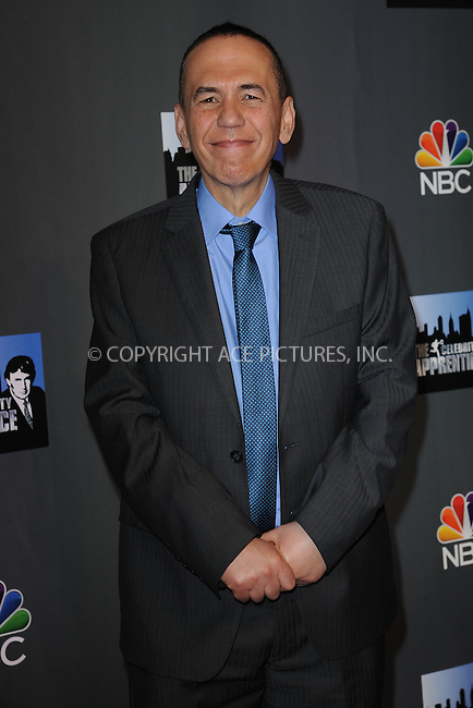 WWW.ACEPIXS.COM <br /> March 20, 2014 New York City<br /> <br /> Gilbert Gottfried attending the press junket for 'The Celebrity Apprentice' Season 14 at Chelsea Piers on March 20, 2014 in New York City.<br /> <br /> Please byline: Kristin Callahan  <br /> <br /> ACEPIXS.COM<br /> Ace Pictures, Inc<br /> tel: (212) 243 8787 or (646) 769 0430<br /> e-mail: info@acepixs.com<br /> web: http://www.acepixs.com