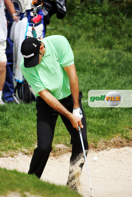 Alvaro Quiros takes his 3rd shot from the bunker on the 15th hole in the Open de Espana at the Centro Nacional de Golf Madrid, Spain, in round 2 on Saturday 28th April 2007. European PGA Tour...Photo NEWSFILE/Eoin Clarke.(Photo credit should read Eoin Clarke/NEWSFILE)....This Picture has been sent you under the condtions enclosed by:.Newsfile Ltd..The Studio,.Millmount Abbey,.Drogheda,.Co Meath..Ireland..Tel: +353(0)41-9871240.Fax: +353(0)41-9871260.GSM: +353(0)86-2500958.email: pictures@newsfile.ie.www.newsfile.ie.FTP: 193.120.102.198..3rd Round of the Open de Espana..Photo NEWSFILE/Eoin Clarke.(Photo credit should read Eoin Clarke/NEWSFILE)..This Picture has been sent you under the condtions enclosed by:.Newsfile Ltd..The Studio,.Millmount Abbey,.Drogheda,.Co Meath..Ireland..Tel: +353(0)41-9871240.Fax: +353(0)41-9871260.GSM: +353(0)86-2500958.email: pictures@newsfile.ie.www.newsfile.ie.FTP: 193.120.102.198..