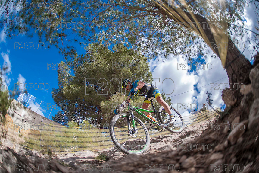 Chelva, SPAIN - MARCH 6: Camilo Jesus Espinosa during Spanish Open BTT XCO on March 6, 2016 in Chelva, Spain