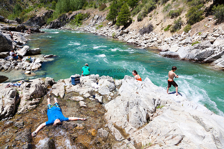 Kirkham Hot Springs, Idaho on the south fork of the Payette River