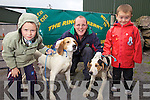 At the Hound Show in Garrai Glas, Kenneigh, on Friday were l-r; Daragh, Mike & Enda O'Shea with Hiker & Jack.