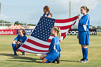 Bradenton, FL - Sunday, June 12, 2018: Banner girls during a U-17 Women's Championship Finals match between USA and Mexico at IMG Academy.  USA defeated Mexico 3-2 to win the championship.