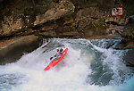 November 5, 2016 - Hendersonville, North Carolina, U.S. -  Kayaker, Billy Jones, drops into the Scream Machine Rapids during the 21st annual Green Race.The Green River Narrows provides one of the most intense and extreme whitewater venues in the world and is home to many of the USA's most talented paddlers.  Green River Narrows, Hendersonville, North Carolina.
