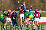 Laura Collins Kerry in action against Amy Cully Westmeath in the 2019 Camogie League Division 2 at John Mitchells GAA grounds in Tralee, on Sunday.