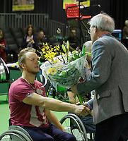 Februari 13, 2015, Netherlands, Rotterdam, Ahoy, ABN AMRO World Tennis Tournament, Nicolas Peifer (FRA)<br /> Photo: Tennisimages/Henk Koster
