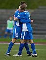Queen of the South's Gavin Reilly (9) celebrates after he scores their second goal ...
