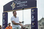 Lee Sharpe tees off the 1st hole during the World Celebrity Pro-Am 2016 Mission Hills China Golf Tournament on 21 October 2016, in Haikou, China. Photo by Weixiang Lim / Power Sport Images