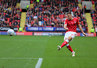 Ben Purrington of Charlton Athletic crosses the ball during Charlton Athletic vs Preston North End, Sky Bet EFL Championship Football at The Valley on 3rd November 2019