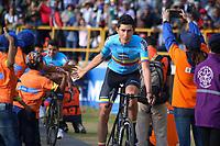 TUNJA - COLOMBIA, 11-02-2020: Equipo SELECCION COLOMBIA (col) durante la primera del Tour Colombia 2.1 2020 que se correrá en Boyacá, Colombia entre el 11 y 16 de febrero de 2020. / Team SELECCION COLOMBIA (OL) during the launch of Tour Colombia 2.1 2020 that that will run between February 11 and 16, 2020 in Boyacá, Colombia.  Photo: VizzorImage / Darlin Bejarano / Cont