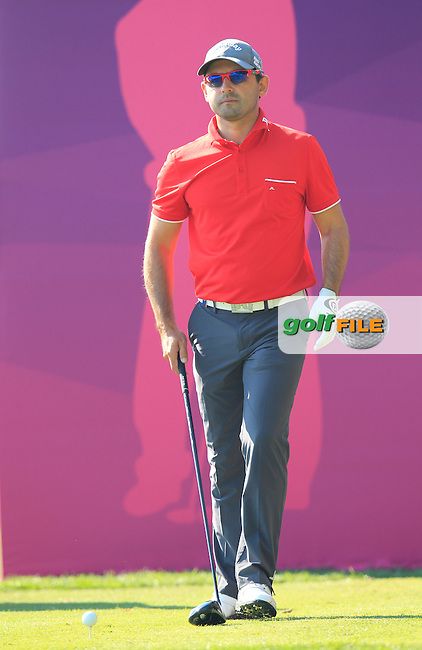 Fabrizio ZANOTTI (PAR) tees off the 10th tee during Thursday's Round 2 of the 2015 Commercial Bank Qatar Masters held at Doha Golf Club, Doha, Qatar.: Picture Eoin Clarke, www.golffile.ie: 1/22/2015