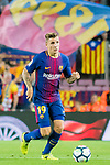 Lucas Digne of FC Barcelona in action during the La Liga 2017-18 match between FC Barcelona and SD Eibar at Camp Nou on 19 September 2017 in Barcelona, Spain. Photo by Vicens Gimenez / Power Sport Images
