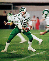 John Hufnagel Saskatchewan Roughriders quarterback 1983. photograph F. Scott Grant