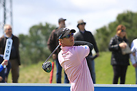 Nicolas Colsaerts (BEL) on the 1st tee during Round 2 of the Open de Espana 2018 at Centro Nacional de Golf on Friday 13th April 2018.<br /> Picture:  Thos Caffrey / www.golffile.ie<br /> <br /> All photo usage must carry mandatory copyright credit (&copy; Golffile | Thos Caffrey)