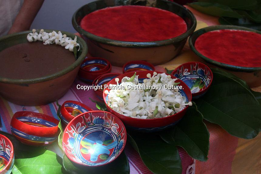 Oaxaca de Ju&aacute;rez, Oax. 20/07/2015.- En conferencia de prensa, representantes de la Secretaria de Turismo y Desarrollo Econ&oacute;mico (STyDE),&nbsp; quienes se acompa&ntilde;aron con autoridades y comerciantes de San Andr&eacute;s Huayapam, anunciaron la novena edici&oacute;n de la &ldquo;Feria del Tejate y el Tamal&rdquo;, la cual contara con la participaci&oacute;n de 76 mujeres que ofrecer&aacute;n sus productos a propios y extra&ntilde;os a precios muy m&oacute;dicos.<br /> &nbsp;En este contexto, invitaron al publico en general a asistir a este evento gastron&oacute;mico el cual se hace en el marco de las fiestas de julio, mismo que se realizara el 23 y 24 de este mes en la Plaza de la Danza.<br /> <br /> Foto: Patricia Castellanos.