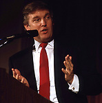 Donald Trump at a press conference on December 1, 1988 at the Plaza Hotel in New York City.