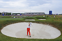 Sergio Garcia (ESP) in a bunker on the 18th during Round 4 of the HNA Open De France at Le Golf National in Saint-Quentin-En-Yvelines, Paris, France on Sunday 1st July 2018.<br /> Picture:  Thos Caffrey | Golffile