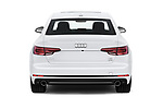 Straight rear view of a 2018 Audi A4 Premium 4 Door Sedan stock images