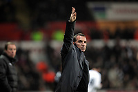 Pictured: Manager Brendan Rodgers of Swansea. Saturday 31 December 2011<br /> Re: Premier League football Swansea City FC v Tottenham Hotspur at the Liberty Stadium, south Wales.