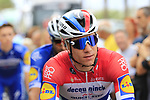 Dutch Champion Fabio Jakobsen (NED) Deceuninck-Quick Step arrives at sign on before the start of Stage 4 of La Vuelta 2019 running 175.5km from Cullera to El Puig, Spain. 27th August 2019.<br /> Picture: Eoin Clarke | Cyclefile<br /> <br /> All photos usage must carry mandatory copyright credit (© Cyclefile | Eoin Clarke)