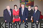 KILMOYLEY GAA: PB McElligott enjoying his 51st Kilmoyley GAA social with family and friends at the Ballyroe Heights, Tralee on Friday l-r: Mick O'Regan, Mary McElligott, PB McElligott, Anne Slattery and John Slattery.