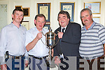 Eoin Casey presents the Michael C Casey Perpetual cup to the winning team at the Killarney Anglers club awards night in the International Hotel Killarney on Saturday night l-r: Michael Doody Chairman, Eoin Casey, Jack Hayden Killarney Cabs team and Tom Ankettell Captain