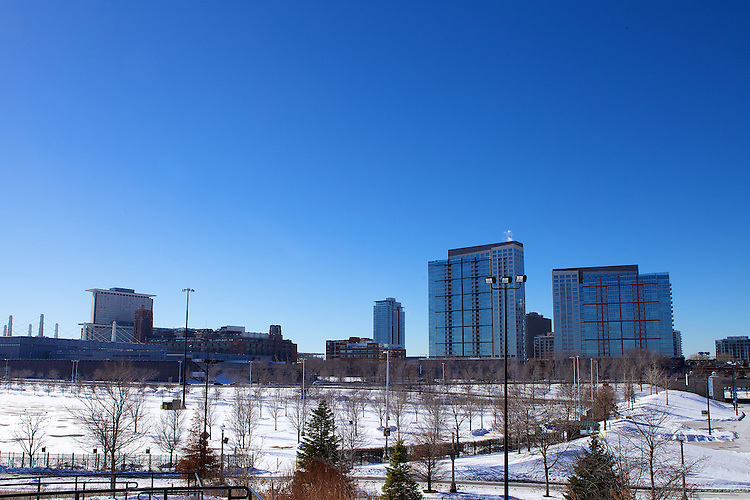 Chicago's McCormick Place convention center is bathed in sunlight on a chilly January day, 2014. Photo by Jeff Carrion