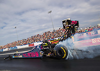 Oct 30, 2016; Las Vegas, NV, USA; NHRA top fuel driver Antron Brown during the Toyota Nationals at The Strip at Las Vegas Motor Speedway. Mandatory Credit: Mark J. Rebilas-USA TODAY Sports